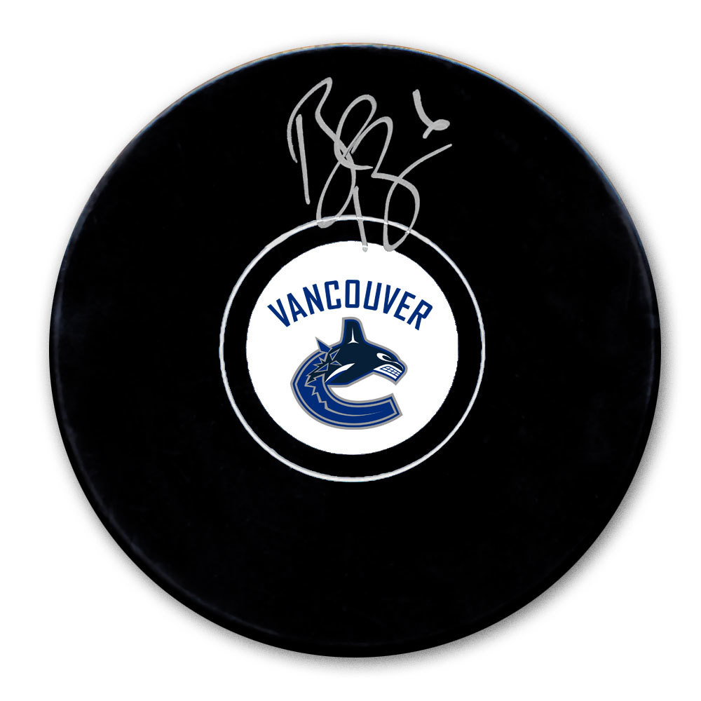 Brock Boeser Vancouver Canucks Autographed Puck
