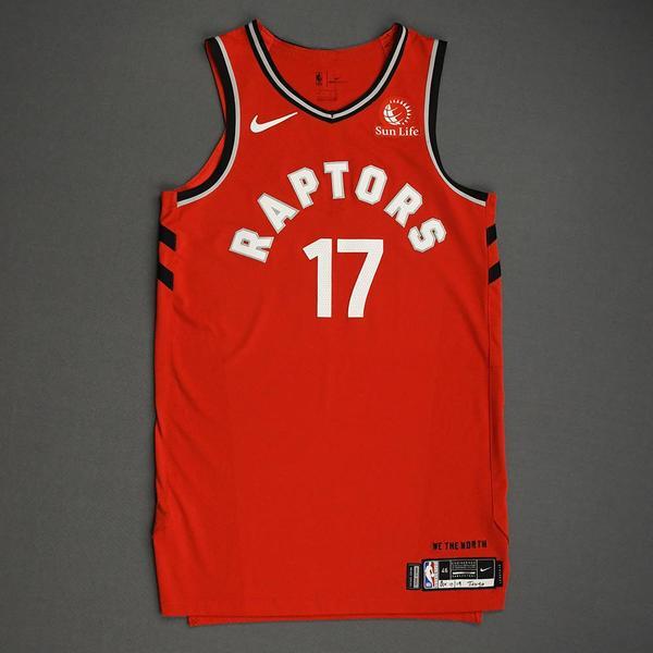 Image of Isaiah Taylor - Toronto Raptors - Game-Issued Icon Edition Jersey - NBA Japan Games - 2019-20 NBA Season