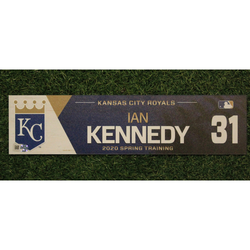 Photo of Game-Used Spring Training Locker Tag: Ian Kennedy #31