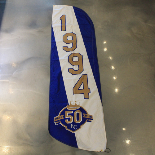 Photo of Team-Issued 50 Seasons Flag; 1994