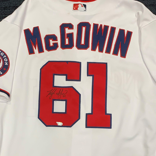 Washington Nationals Philanthropies Jerseys Off Their Back Auction - Kyle McGowin - Autographed Game-Used Jersey - Size 46