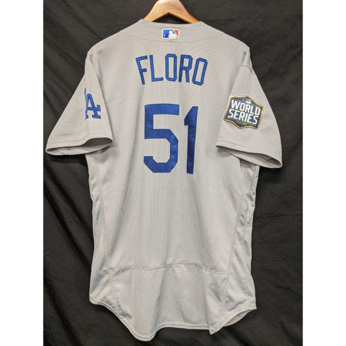 Photo of Dylan Floro 2020 Game-Used Road World Series Jersey - Games 3, 4 & 5