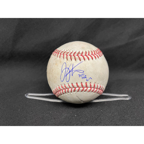 Photo of Joey Votto *Game-Used, Autographed & Inscribed* Baseball from 300th Career HR Game -- No Play Attached -- 04/30/2021 - CHC vs. CIN