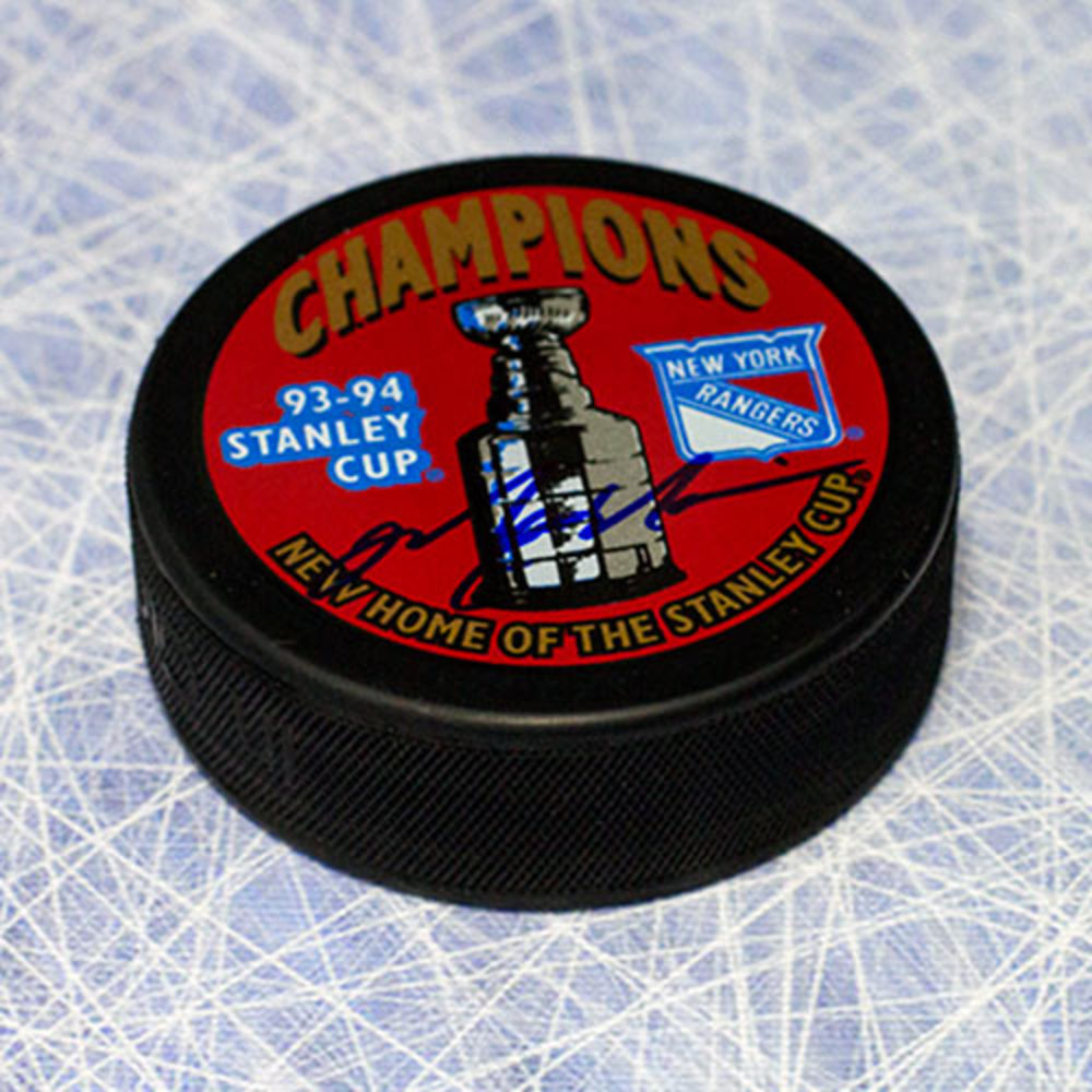 Mark Messier New York Rangers Autographed 1994 Stanley Cup Puck