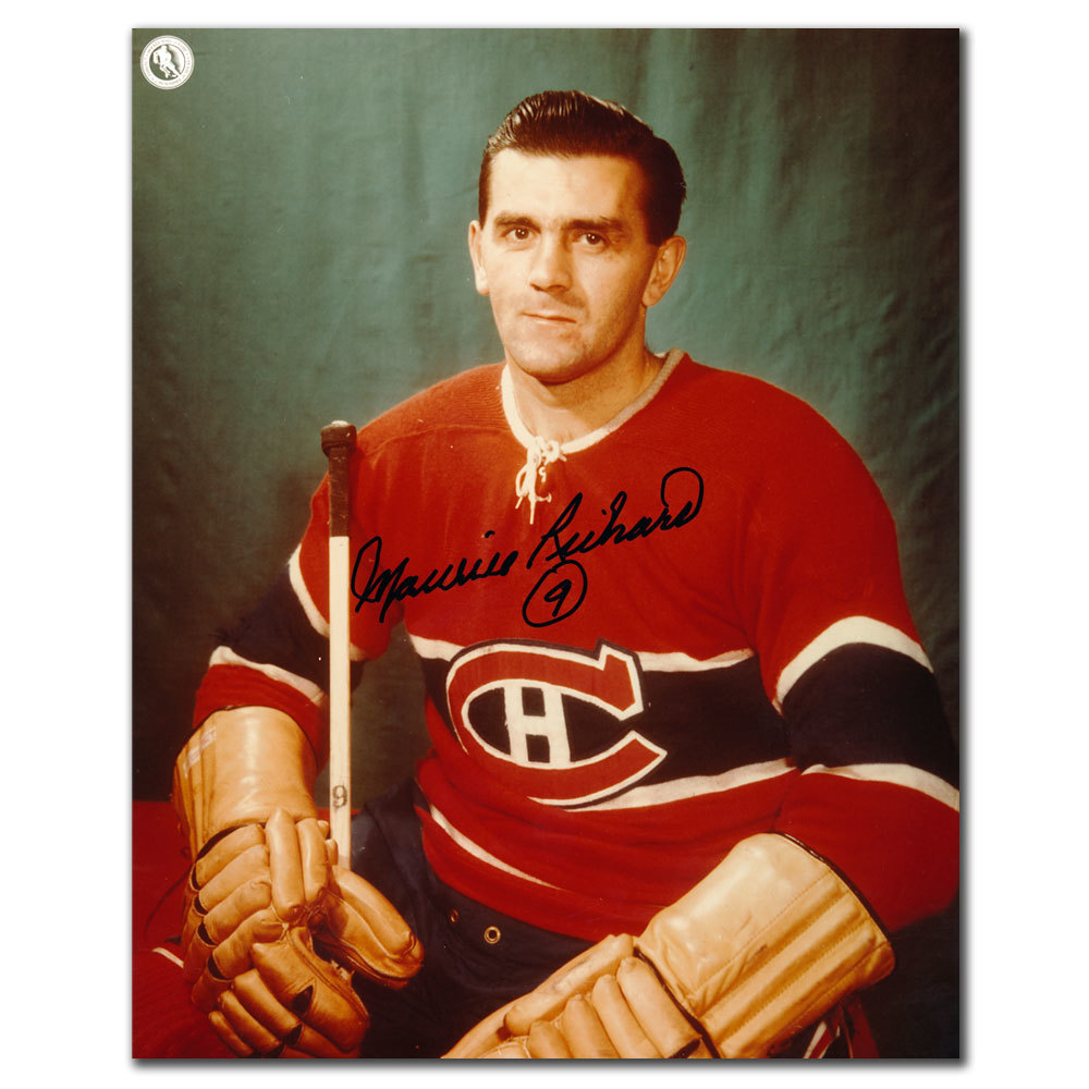 Maurice Richard Montreal Canadiens Autographed 8x10