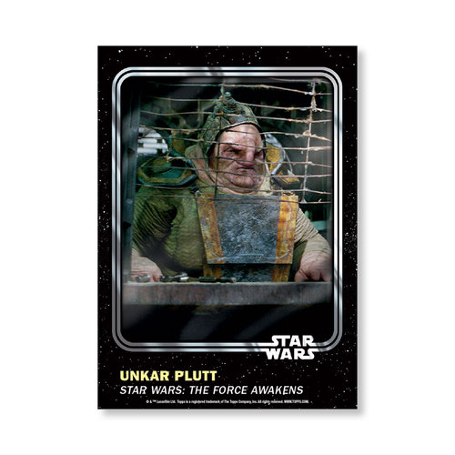 Unkar Plutt 2016 Star Wars Card Trader Base Poster - # to 99