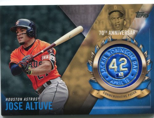 Photo of 2017 Topps Jackie Robinson Logo Patches #JRPCJA Jose Altuve