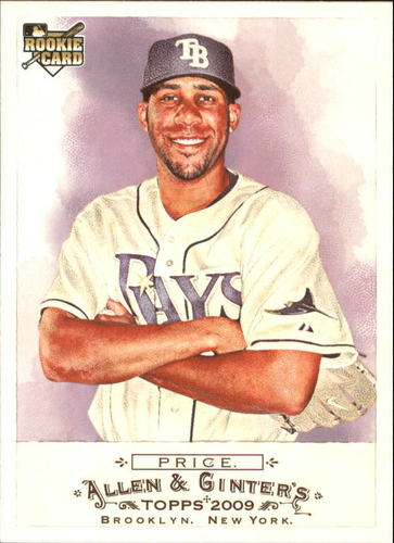 Photo of 2009 Topps Allen and Ginter #225 David Price Rookie Card -- Red Sox post-season