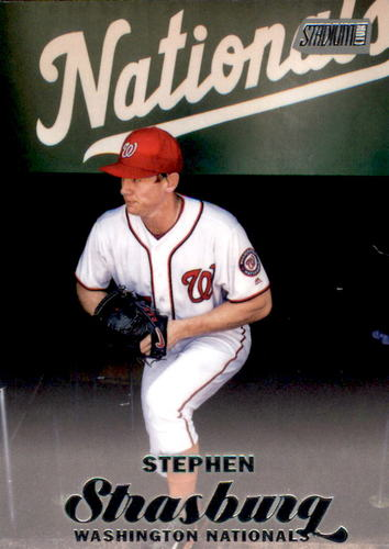 Photo of 2017 Stadium Club #275 Stephen Strasburg -- Nationals post-season