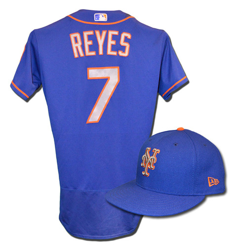new style 42fe8 584e4 MLB Auctions | Jose Reyes #7 - Game Used Blue Alternate Road ...