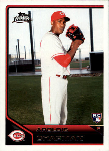 Photo of 2011 Topps Lineage #148 Aroldis Chapman Rookie Card