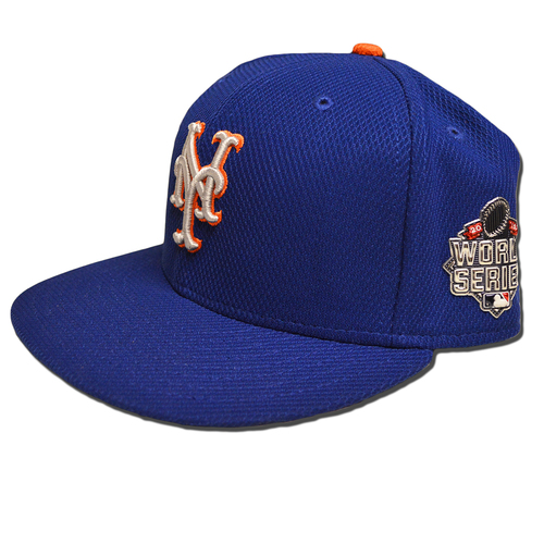 Photo of Juan Uribe #2 - Game Used Blue Alt. Road Hat - 2015 World Series Game 1 - Mets vs. Royals - 10/27/15