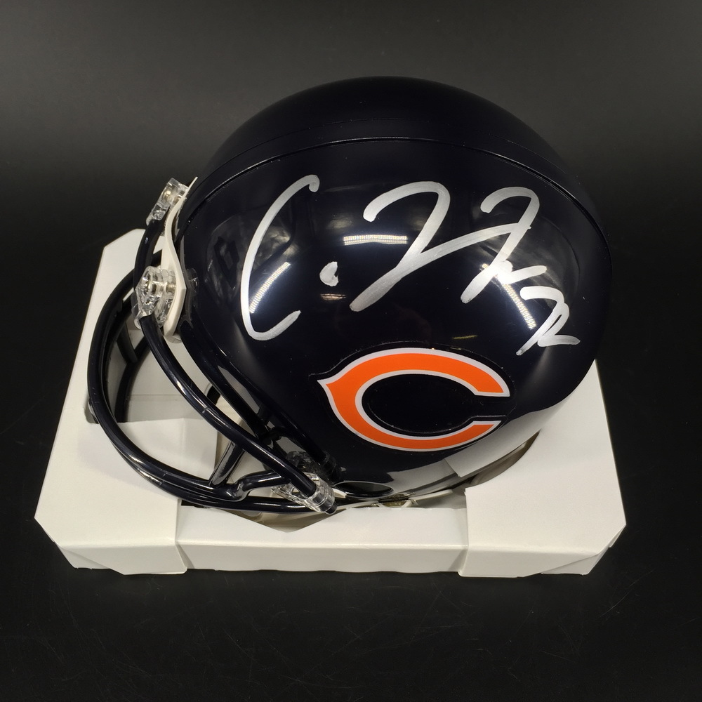 NFL - Bears Charles Leno Jr. Signed Mini Helmet