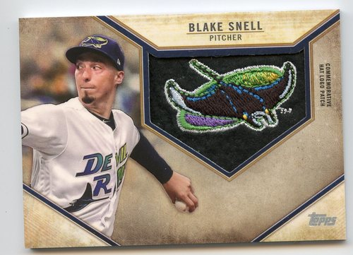 Photo of 2019 Topps Commemorative Retro Hat Logos #RHLPBS Blake Snell