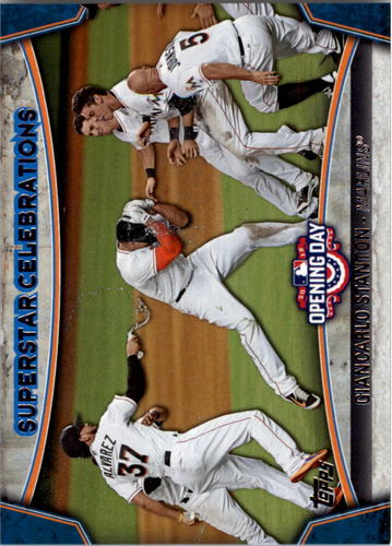 Photo of 2015 Topps Opening Day Superstar Celebrations #SC04 Giancarlo Stanton