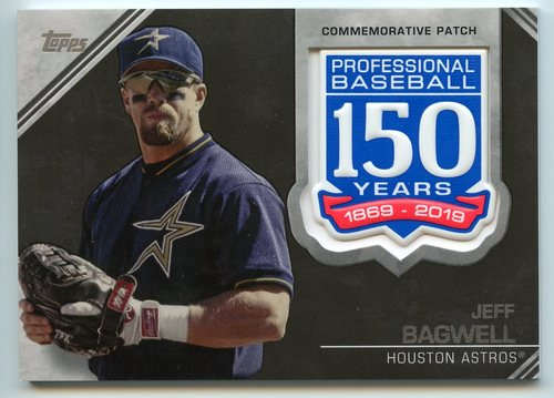 Photo of 2019 Topps 150th Anniversary Manufactured Patches #AMPJB Jeff Bagwell S2