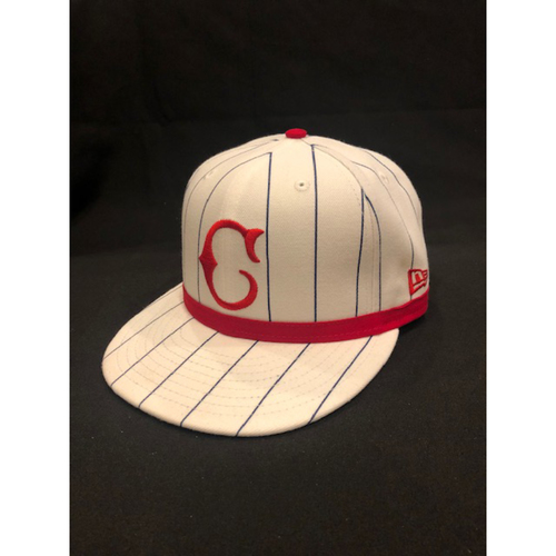 Photo of Derek Dietrich -- Game-Used Cap -- 1919 Throwback Game -- Nationals vs. Reds on June 2, 2019 -- Size 7 1/8