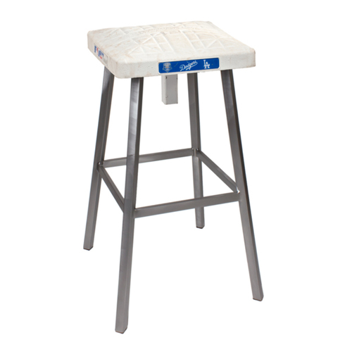 Photo of Tokens & Icons Los Angeles Dodgers Game Used Base Stool