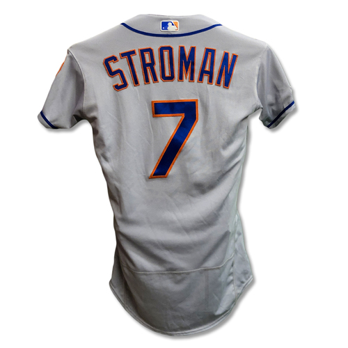 Photo of Marcus Stroman #7 - Game-Used Road Grey Jersey - 4.2 IP, 2 ER, 2 K's - Mets vs. Reds - 9/22/19