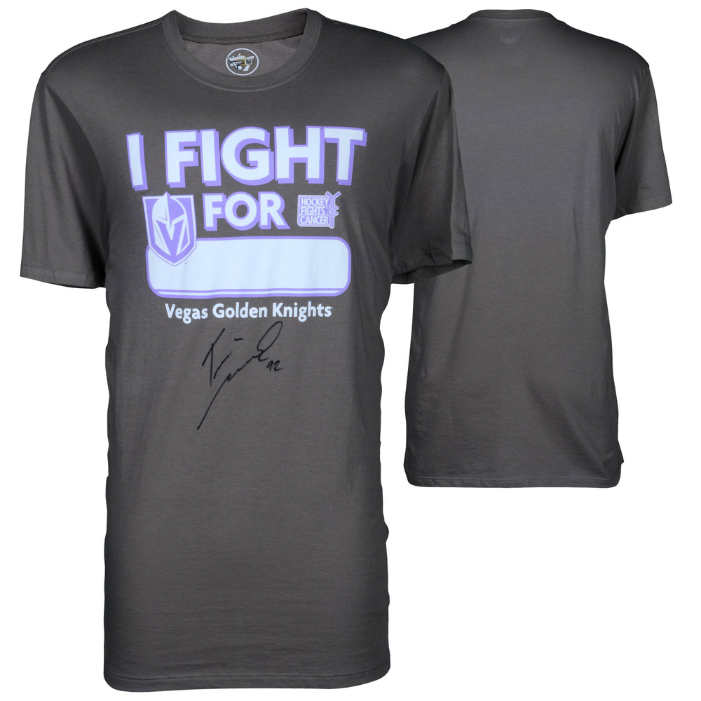 Tomas Nosek Vegas Golden Knights Autographed Hockey Fights Cancer T-Shirt