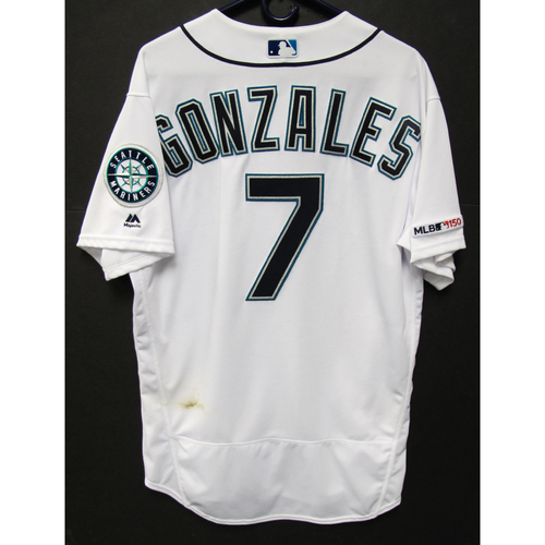 Photo of Marco Gonzales Game-Used White Jersey - 9-11-2019 - Size 46