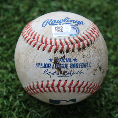 Photo of Game-Used Baseball: Yasmani Grandal 137th Career Double (CWS @ KC 8/1/20)