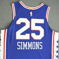 Ben Simmons - Philadelphia 76ers - Game-Worn Icon Edition Jersey - Recorded a Double-Double - 2019-20 NBA Season Restart