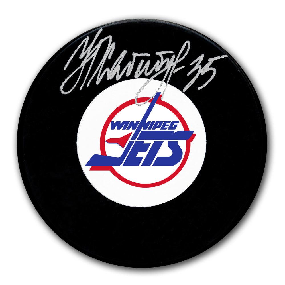 Nikolai Khabibulin Winnipeg Jets Autographed Puck