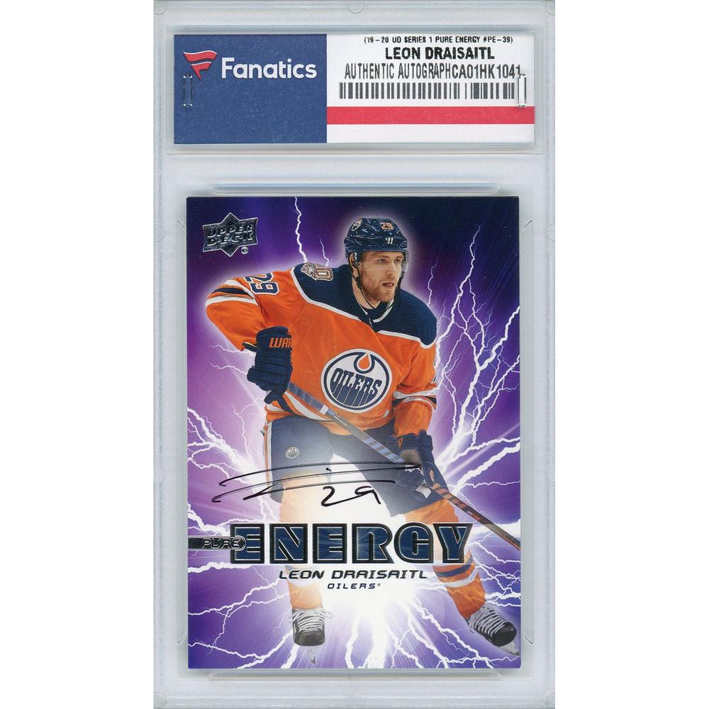 Leon Draisaitl Edmonton Oilers Autographed 2019-20 Upper Deck Series One Pure Energy #PE-39 Card
