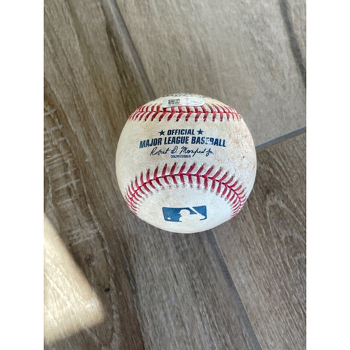 Photo of 8/28/20 Game-Used Baseball, Giants at D-backs: Zac Gallen vs. Mike Yastrzemski (Ground out, Nick Ahmed to Christian Walker)