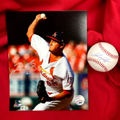 Photo of Giovanny Gallegos Autographed Baseball and Photo