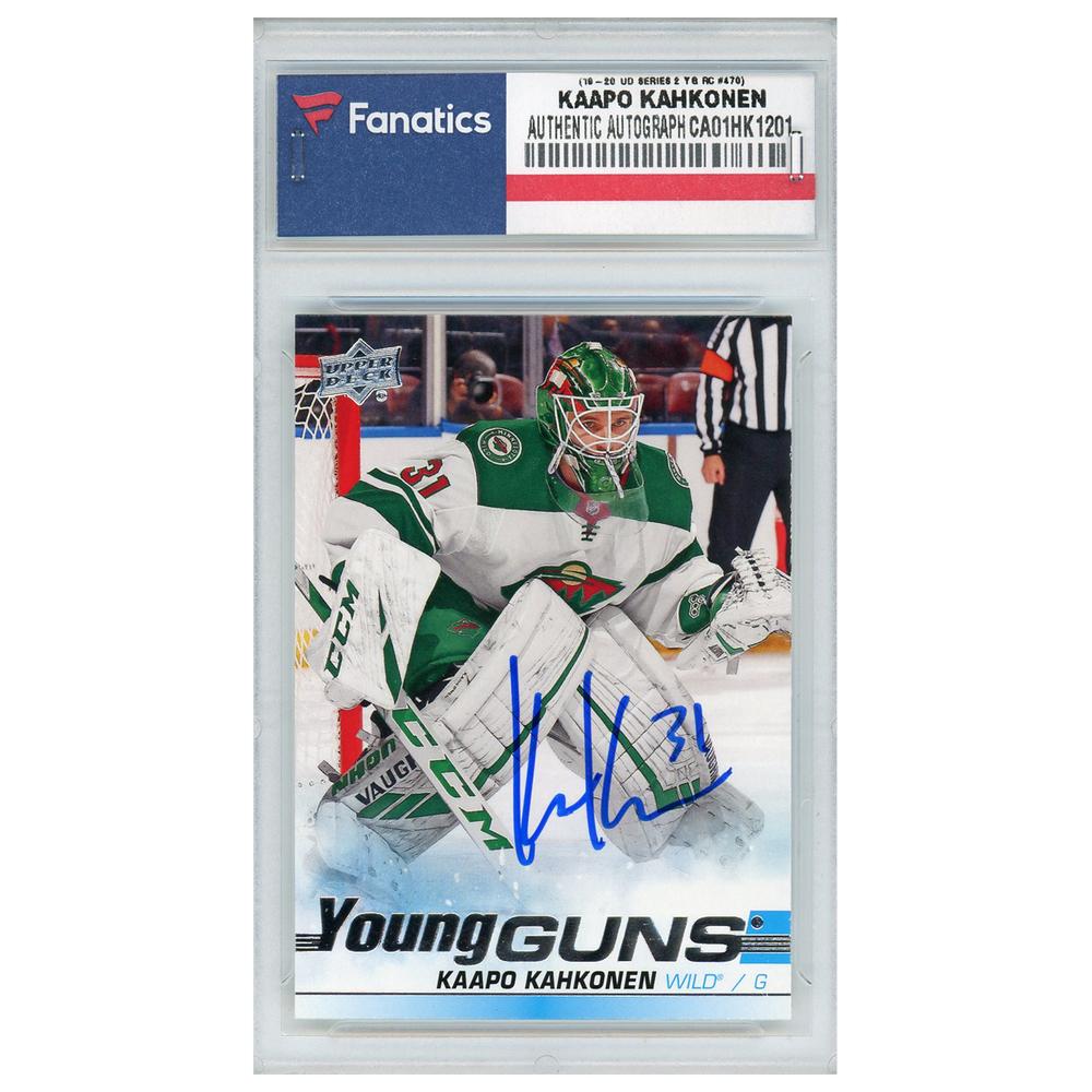 Kaapo Kahkonen Minnesota Wild Autographed 2019-20 Upper Deck Series 2 #470 Young Guns Rookie Card