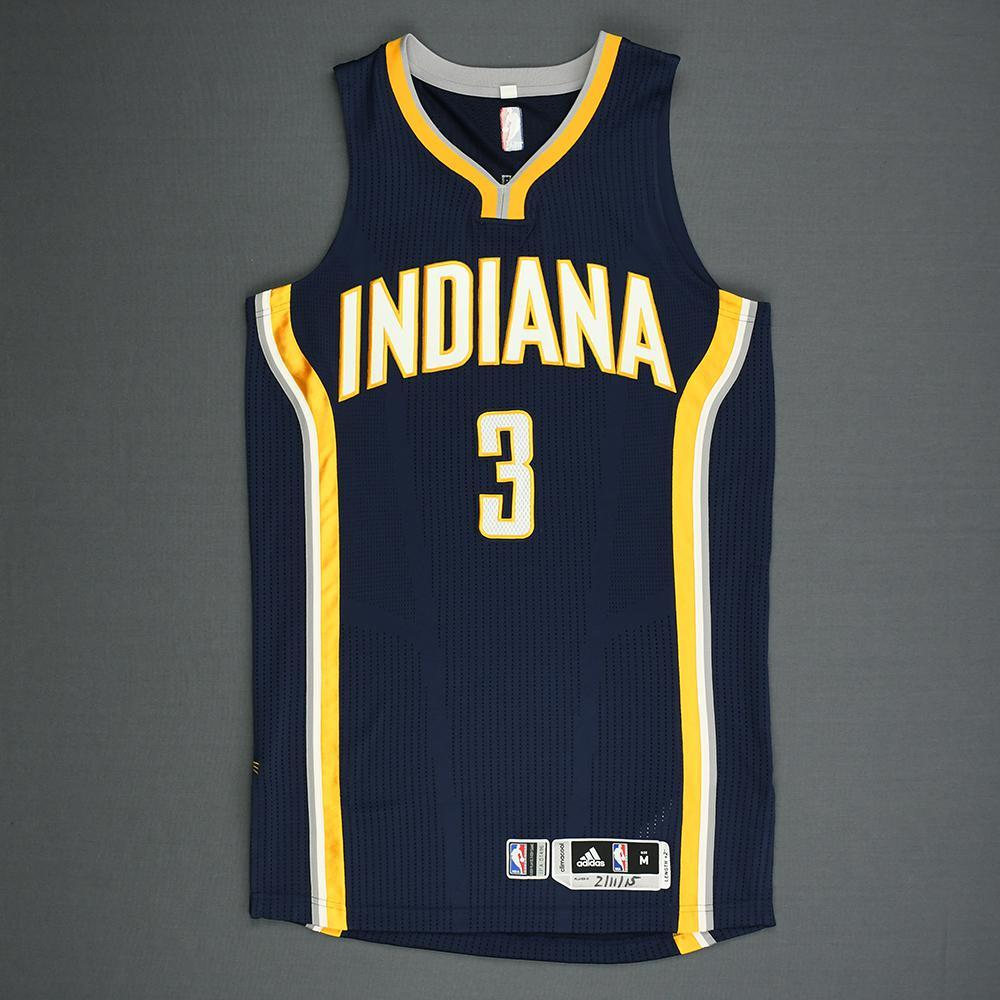 George Hill - Indiana Pacers - Game-Worn Jersey - 2014-15 NBA Season