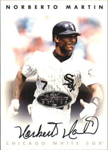 Photo of 1996 Leaf Signature Autographs Silver #144 Norberto Martin