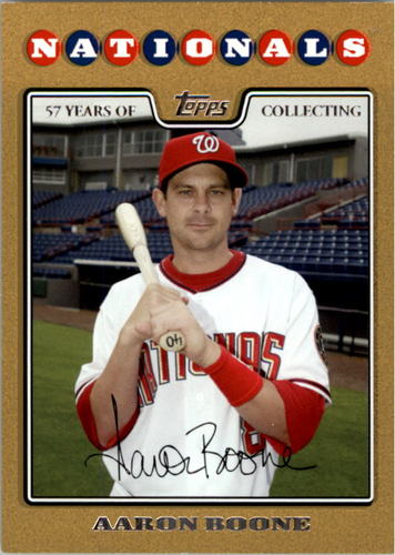 Photo of 2008 Topps Update Gold Border #UH259 Aaron Boone