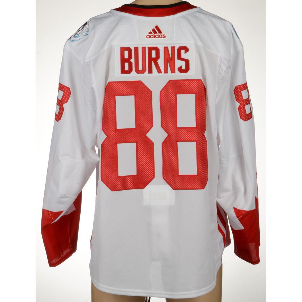 918d758ee ... cheap brent burns san jose sharks game worn world cup of hockey 2016  jersey worn against