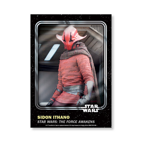 Sidon Ithano 2016 Star Wars Card Trader Base Poster - # to 99