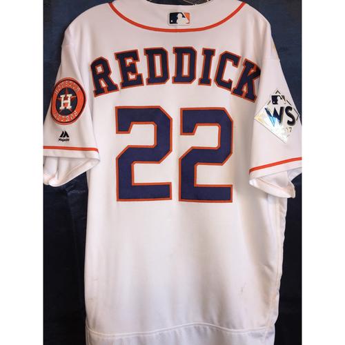2017 World Series Game 3 - Josh Reddick Game-Used Home Jersey