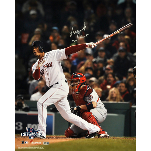 """Photo of Xander Bogaerts Boston Red Sox 2013 World Series Champions Autographed 16"""" x 20"""" Photograph with 13 WS Champs Inscription"""