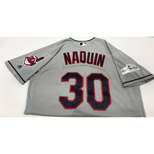 Photo of Tyler Naquin Team-Issued 2017 Postseason Road Jersey