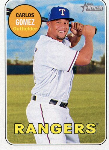 Photo of 2018 Topps Heritage #400 Carlos Gomez