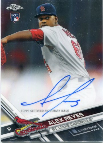 Photo of 2017 Topps Chrome Rookie Autographs Alex Reyes