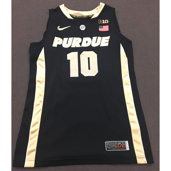 Photo of Hamby #10 Purdue Women's Basketball 2012-13 Black Jersey