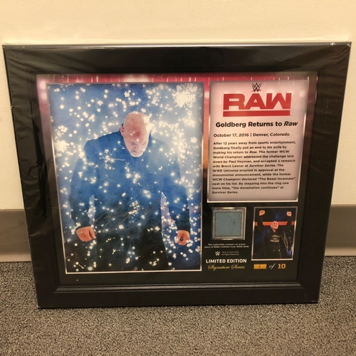 Photo of Goldberg SIGNED RAW Signature Series Ring Canvas Plaque (#1 of 5)
