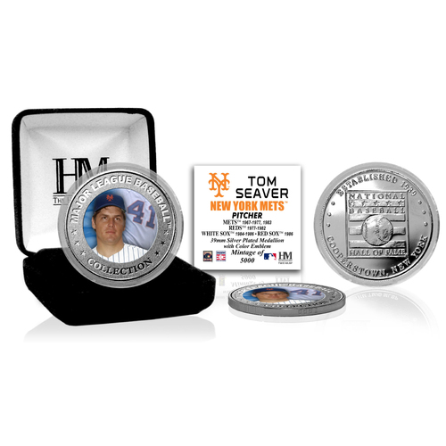 Photo of Tom Seaver Baseball Hall of Fame Silver Color Coin