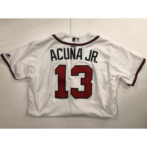 Photo of Ronald Acuna Jr. Game-Used Jersey - Home Run - 7/26/2018