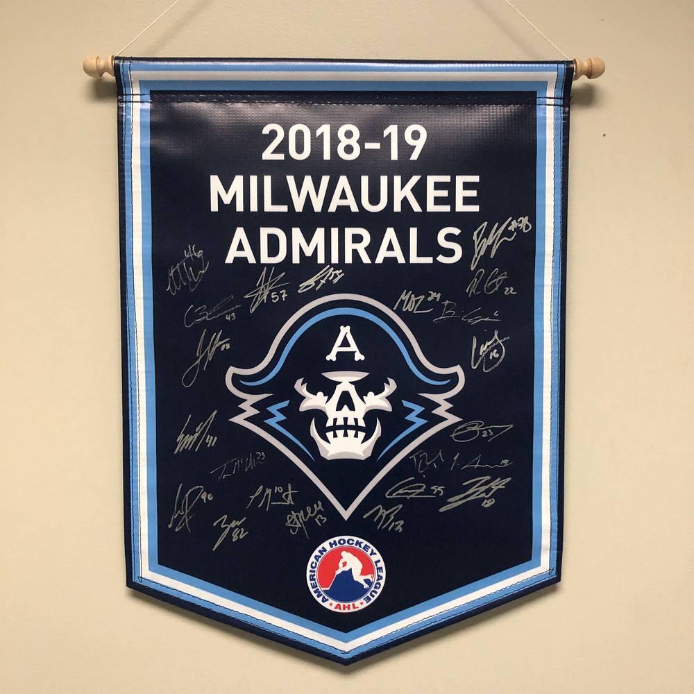 2018-19 Milwaukee Admirals Team-Signed Banner