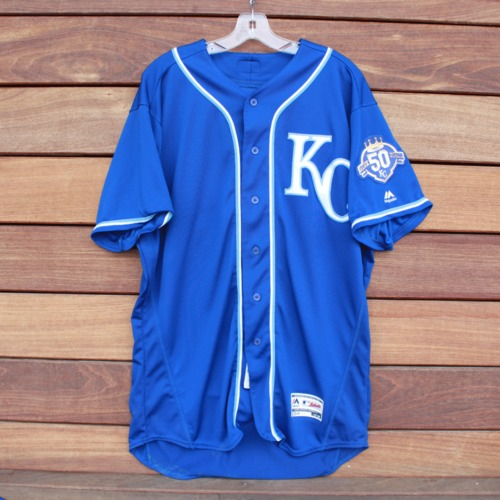Photo of Game-Used Jersey: Ryan O'Hearn 25th Career Hit (KC @ MIN - 9/9/2018 - Size 48)