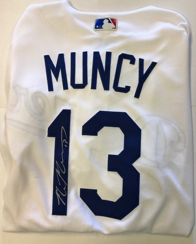 Photo of Max Muncy Autographed Dodgers Authentic Jersey