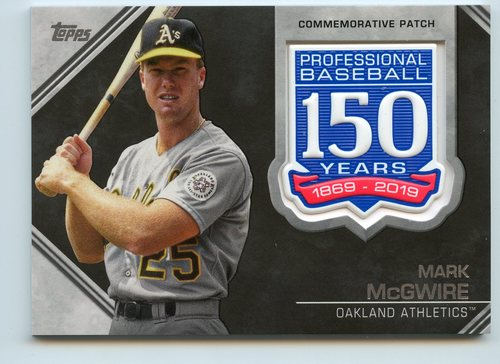 Photo of 2019 Topps 150th Anniversary Manufactured Patches #AMPMM Mark McGwire S2